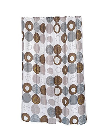 Park Avenue Deluxe Collection Extra Long  inch Madison inch  Fabric Shower Curtain Size 70 inch  Wide x 96 inch  Long
