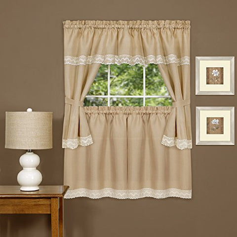Windsor Kitchen Curtain Cottage Set (58 inch  x 36 inch )