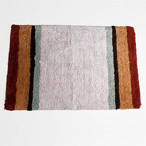 Techtonic Ombre Stripe 100% Cotton Bath Rug (30 inch  x 20 inch )