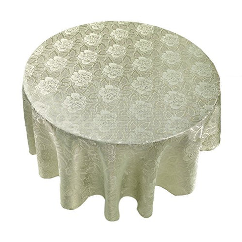 Park Avenue Deluxe Collection Park Avenue Deluxe Collection  inch Rose Damask inch  70 inch  Round Fabric Tablecloth in Sage