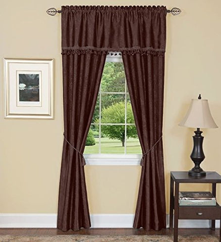 Park Avenue Collection Harrison 5 Piece Set 55x63 - Chocolate
