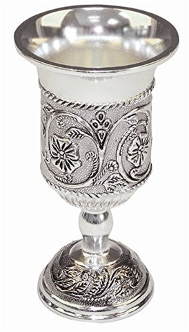 Kiddush Cup Silver Plated 5.5 inch H