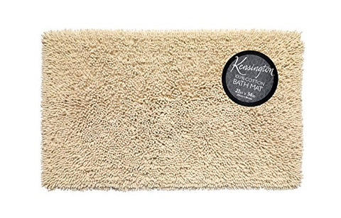 Park Avenue Deluxe Collection Park Avenue Deluxe Collection Shaggy Cotton Chenille Bath Room Rug Size 21 inch x34 inch  in Ivory