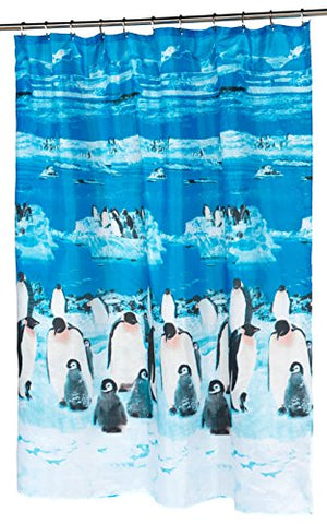 BenandJonah Collection Fabric Shower Curtain 70 x 72 inch  Arctic Print