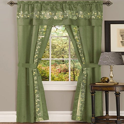 Park Avenue Collection Fairfield 5 Piece Set - 55x63 - Sage