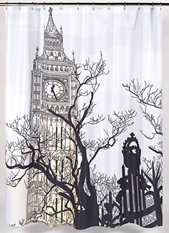World Tour London Big Ben Fabric Shower Curtain Size: 70 inch  x 72 inch
