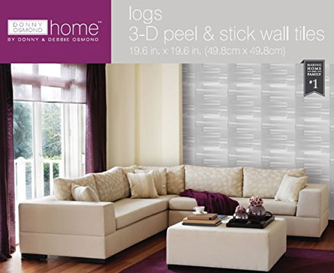 Park Avenue Collection Donny Osmond Home 3D Self Adhesive Wall Tiles - Logs