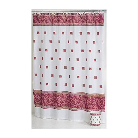 Park Avenue Deluxe Collection Park Avenue Deluxe Collection  inch Windsor inch  Fabric Shower Curtain in Burgundy