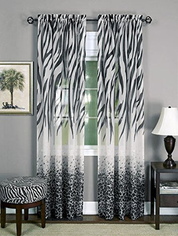 Park Avenue Collection Kenya Panel - 50x84 - Black/Multi