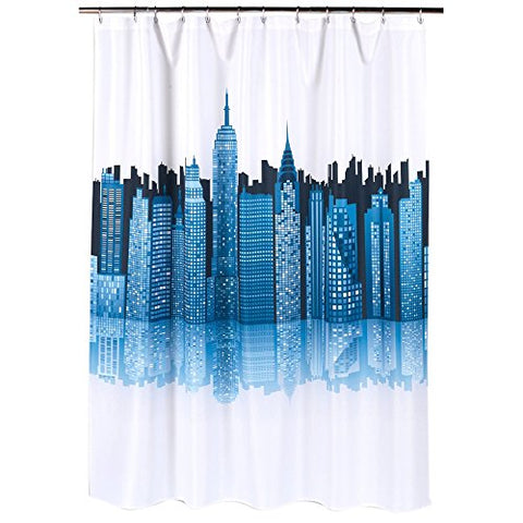 Park Avenue Deluxe Collection Park Avenue Deluxe Collection  inch Cityscape inch  Fabric Shower Curtain
