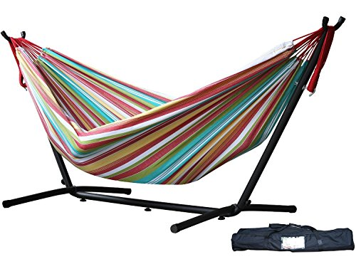 Eclipse Collection Vivere's Combo - Double Salsa Hammock with Stand (9ft) New