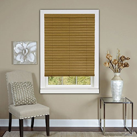 Park Avenue Collection Cordless Luna 2 inch  Vinyl Venetian Blind with 2 in. Valance 27x64 - Woodtone