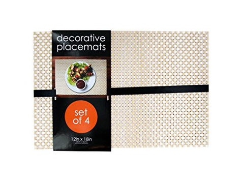 Regalo Perfecto Collection Decorative Bamboo Look Woven Placemat Set
