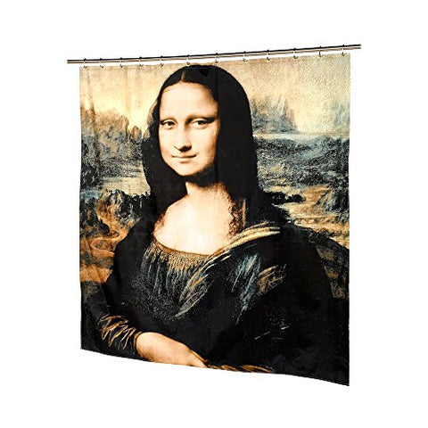 Park Avenue Deluxe Collection Park Avenue Deluxe Collection  inch Mona Lisa inch  Fabric Shower Curtain