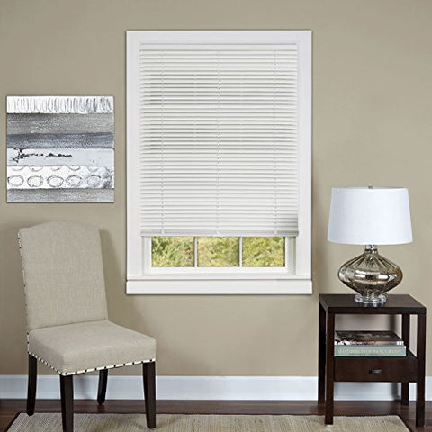 Park Avenue Collection Cordless Deluxe Sundown 1 inch  Room Darkening Mini Blind 27x64 - White