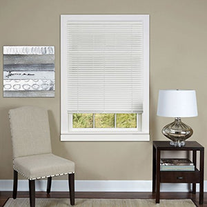 Park Avenue Collection Cordless Deluxe Sundown 1 inch  Room Darkening Mini Blind 35x64 - White