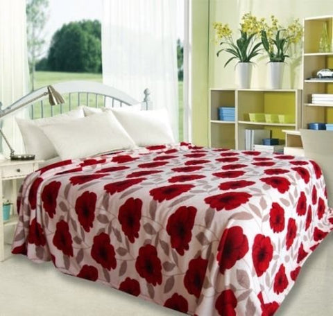 Ben&Jonah Designer Plush Queen (86 inch  x 86 inch ) Fioana Microplush Blanket - Red