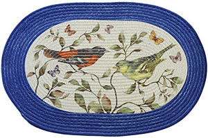 Park Avenue Collection Braided Rug 20 x 30 - Love Birds