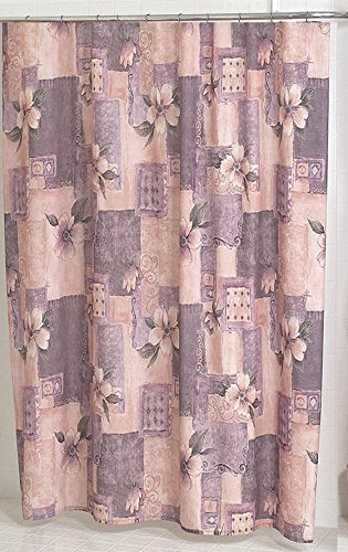 Antique Floral Wallpaper Fabric Shower Curtain Size: 70 inch  x 72 inch