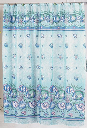 Under the Sea Fabric Shower Curtain Size: 70 inch  x 72 inch