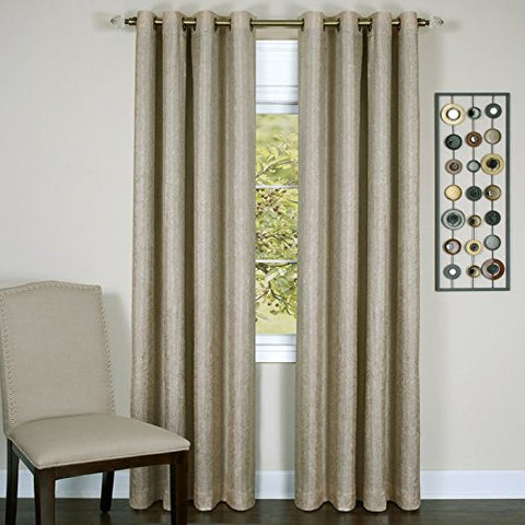 Park Avenue Collection Taylor - Lined Grommet Panel - 50x63 Tan