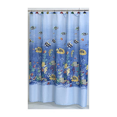Park Avenue Deluxe Collection Park Avenue Deluxe Collection  inch Tropical Sea inch  Fabric Shower Curtain