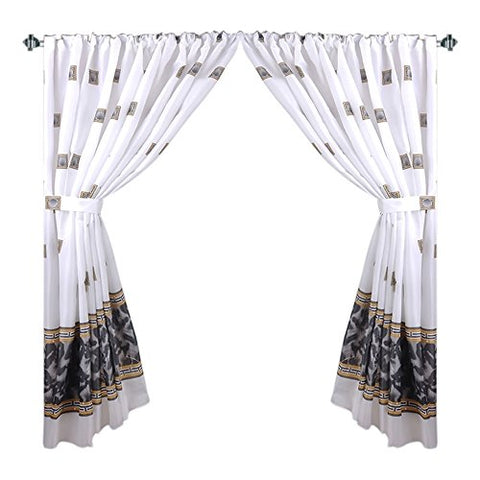 Park Avenue Deluxe Collection Park Avenue Deluxe Collection  inch Windsor inch  Fabric Window Curtain in Black