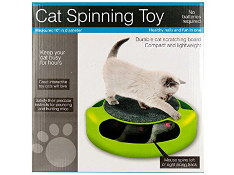 Regalo Perfecto Collection Cat Scratch Pad Spinning Toy with Mouse