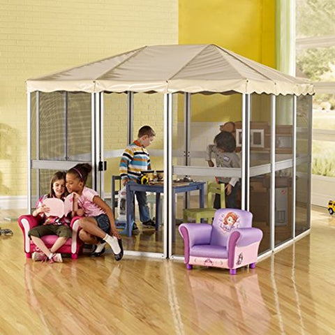 Eclipse Collection Children's Gazebo Beige (7'L x 7'W x 5-6'H)