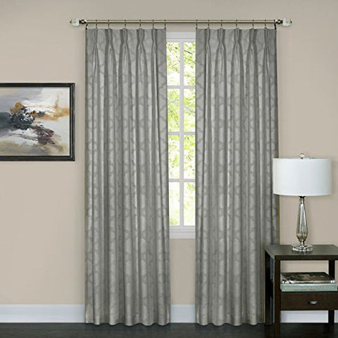 Ben&Jonah Collection Windsor Pinch Pleat Window Curtain Panel 34x84