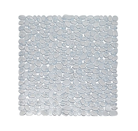 Park Avenue Deluxe Collection Park Avenue Deluxe Collection Stall Size inch Pebbles inch  Vinyl Bath Mat in clear