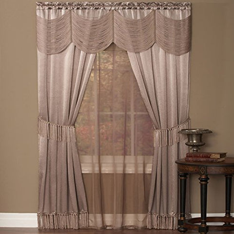 Park Avenue Collection Halley 6 Piece Set - 56x84 - Mauve