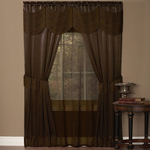 Park Avenue Collection Halley 6 Piece Set - 56x84 - Chocolate