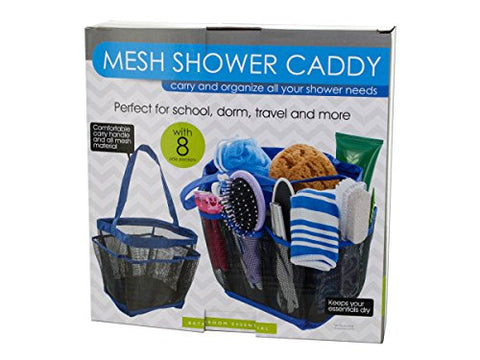 Regalo Perfecto Collection Mesh Shower Caddy with 8 Side Pockets