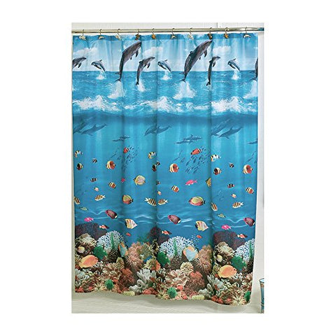Park Avenue Deluxe Collection Park Avenue Deluxe Collection  inch Seascape inch  Fabric Shower Curtain