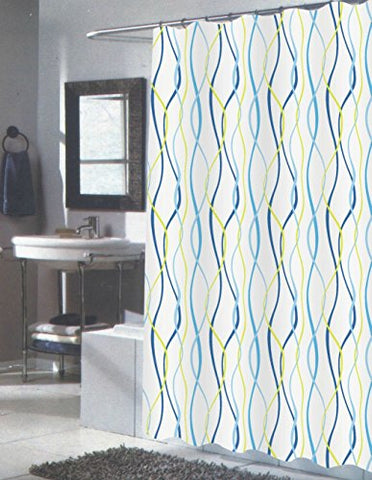 Modern Art Squiggly Eel Anguila Extra Long Fabric Shower Curtain Size: 70 inch  x 84 inch
