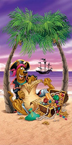 Royal Plush Beach Towel (30 inch  x 60 inch ) - Scooby Pirate