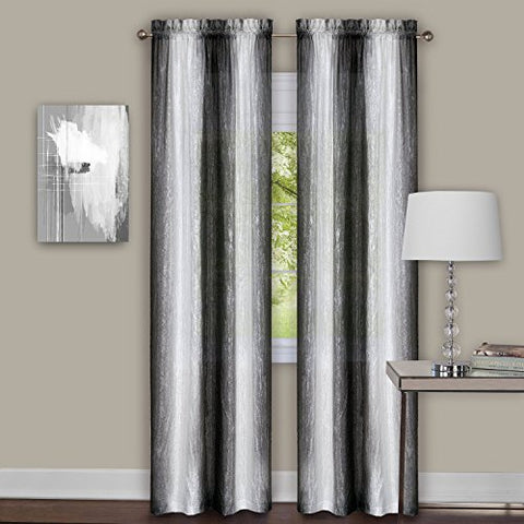 Park Avenue Collection Sombre Panel Pair 40x63 - Black / White