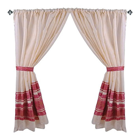 Park Avenue Deluxe Collection Park Avenue Deluxe Collection  inch Fleur inch  Fabric Window Curtain in Burgundy