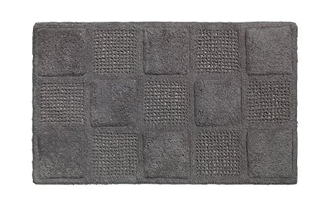 Park Avenue Deluxe Collection Park Avenue Deluxe Collection Waffle Weave 100% Cotton Bath Mat Pewter