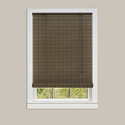 Sweet Roll Collection Set of 2 Cocoa / Almond Vinyl Roll-Up Blinds (36 inch  x 72 inch )