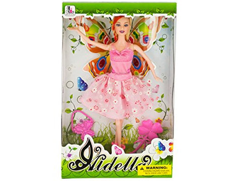 Regalo Perfecto Collection Ballet Dancer Fashion Doll with Butterfly Wings