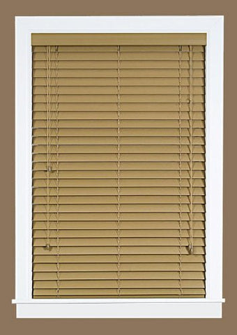 Park Avenue Collection Madera Falsa 2 inch  Faux Wood Plantation Blind 27x64 - Maple