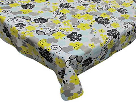 Park Avenue Deluxe Collection  inch Retro Garden inch  52 inch  x 90 inch  Vinyl Flannel Backed Tablecloth