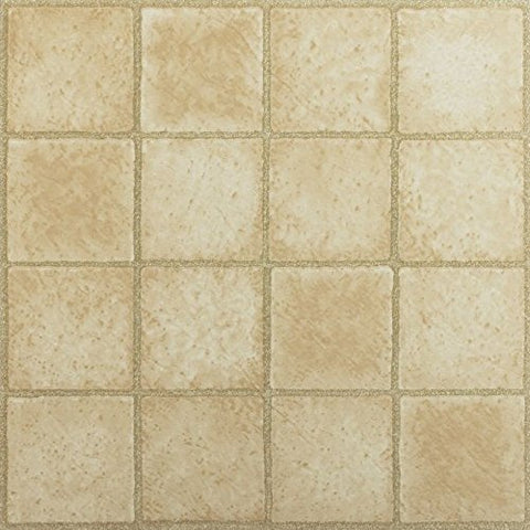 Park Avenue Collection NEXUS 16 Square Sandstone 12 Inch x 12 Inch Self Adhesive Vinyl Floor Tile #308 - 20 Tiles