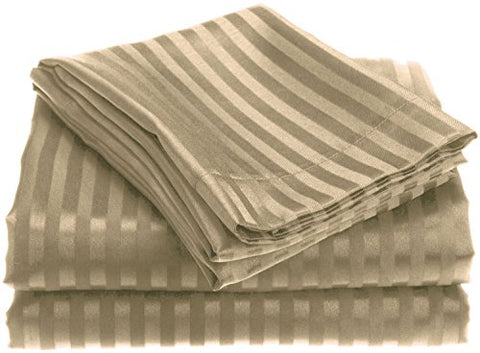 Ben&Jonah Designer Plush King 1800 Series Embossed Sheet Set - Taupe