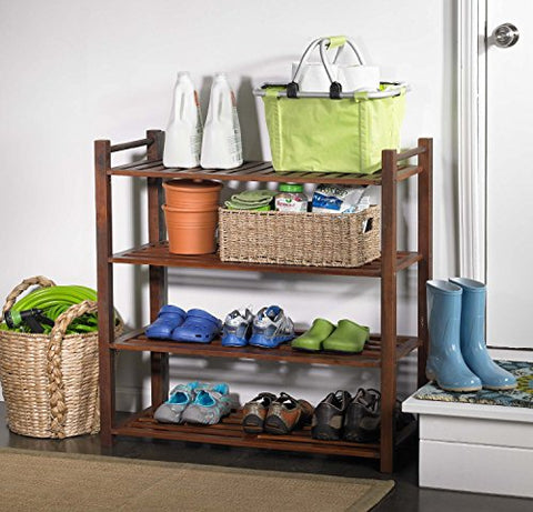 Hamptons Collection 4 Tier Outdoor Shoe Rack
