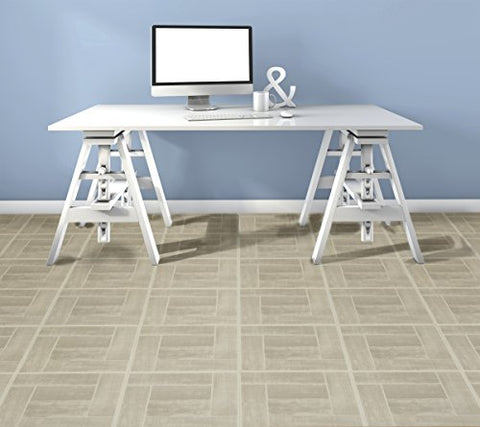 Ben&Jonah Collection Tivoli Saddlewood 12x12 Self Adhesive Vinyl Floor Tile - 45 Tiles/45 sq Ft.