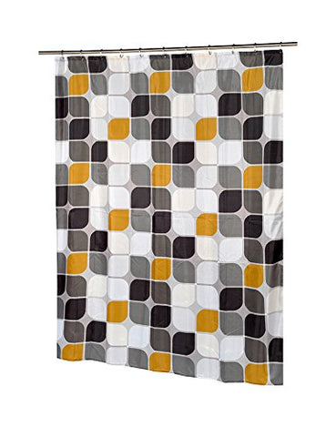 Park Avenue Deluxe Collection Park Avenue Deluxe Collection  inch Metro inch  Stall Size Fabric Shower Curtain