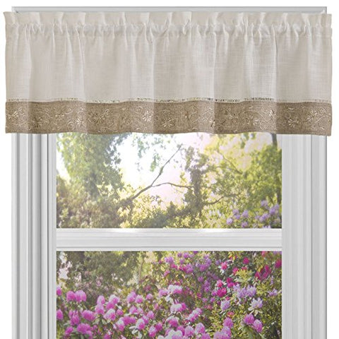 Park Avenue Collection Oakwood 58x14 Valance - Natural